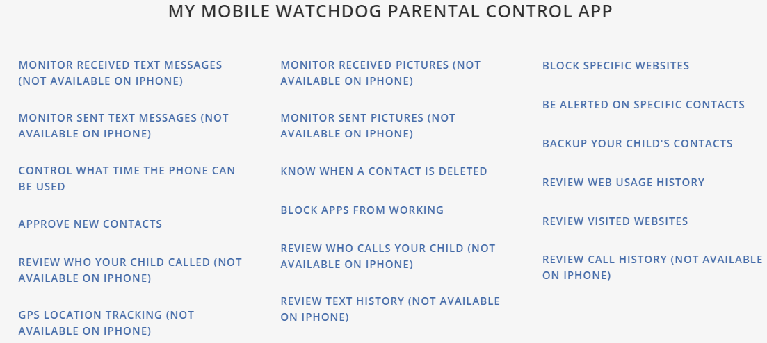 Monitoring your child's smartphone: My Mobile Watchdog - Cyber